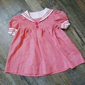 Other - VINTAGE gingham sailor smock dress